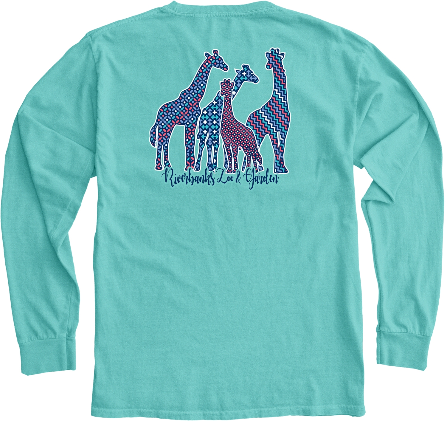 LADIES LONG SLEEVE PATTERNED GIRAFFES TEE