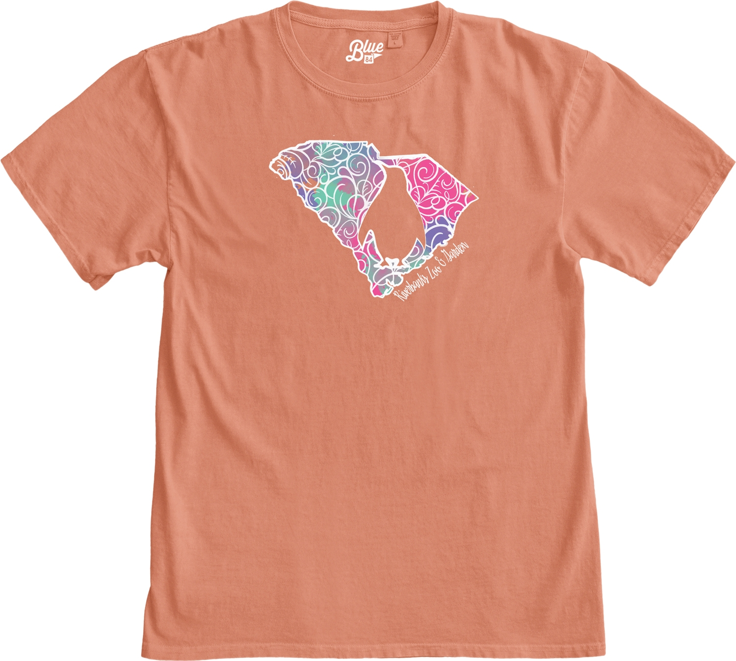 LADIES SHORT SLEEVE SOUTH CAROLINA PENGUIN SWIRLS TEE