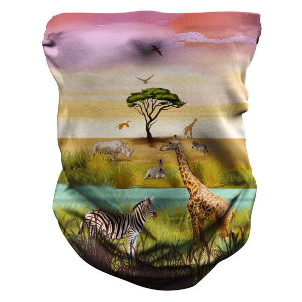 ADULT SAVANA PRINT NECK GAITER