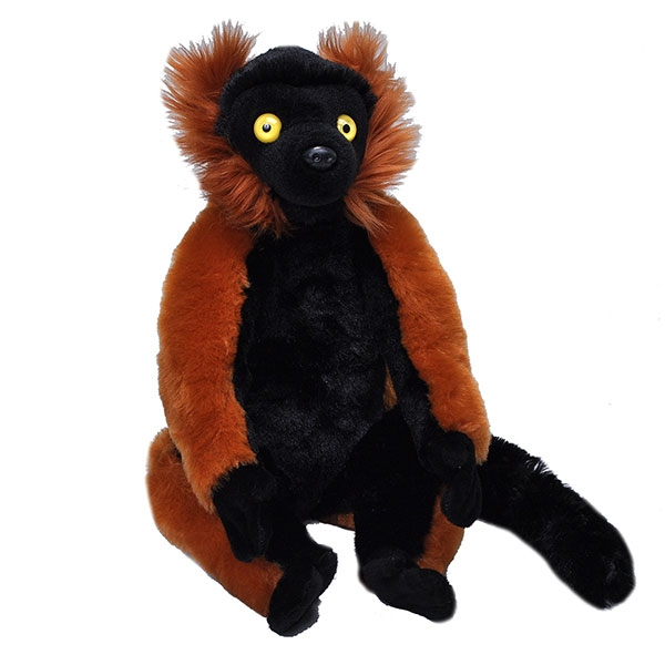 RED RUFFED LEMUR STUFFED ANIMAL - 12""