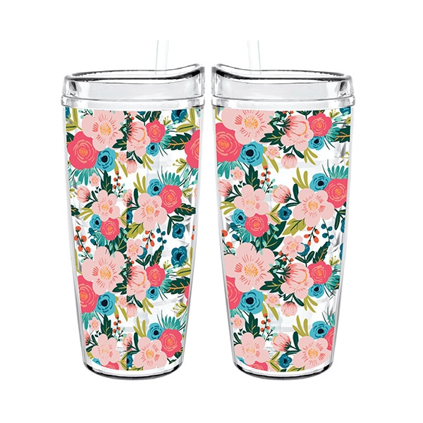 INSULATED TUMBLER FLORAL TIGER