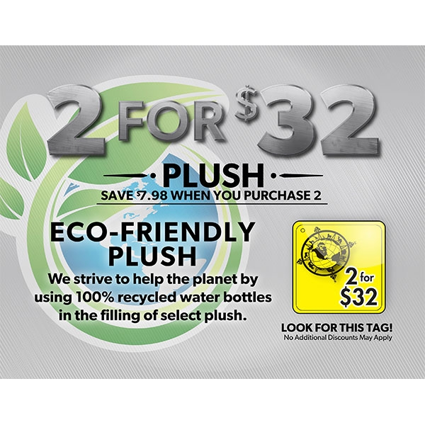 2 for $32 Plush