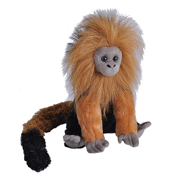 "GOLDEN LION TAMARIN STUFFED ANIMAL - 12"""